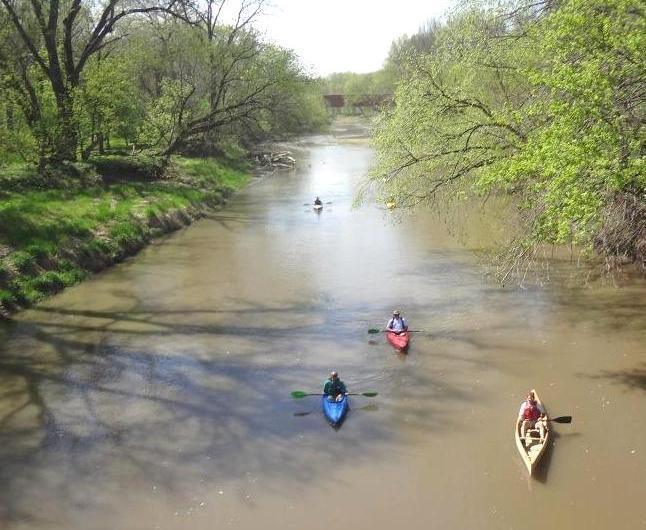 Middlr River Below Bridge CLiechty
