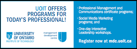 UOIT Offers Programs For Today's Professional