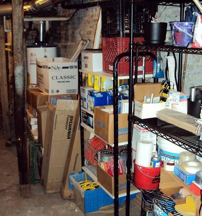 Utility closet after