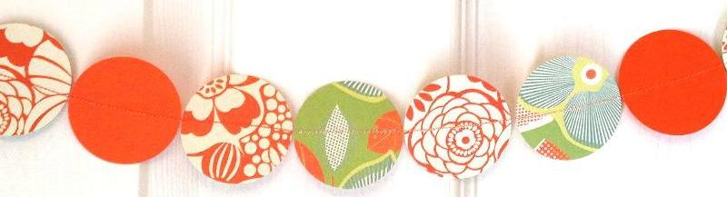 paper garland orange