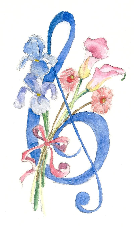 floral treble clef