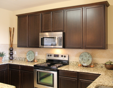 Exceptionnel Shaker White Cabinets Espresso Cabinets