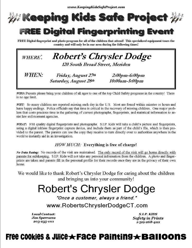Free Fingerprinting Event For Kids
