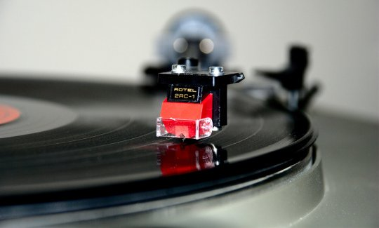 Vinyl Record Playing