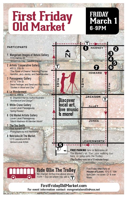 First Friday March Map