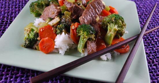 Jennifer's Beef and Vegetables Stir-fry