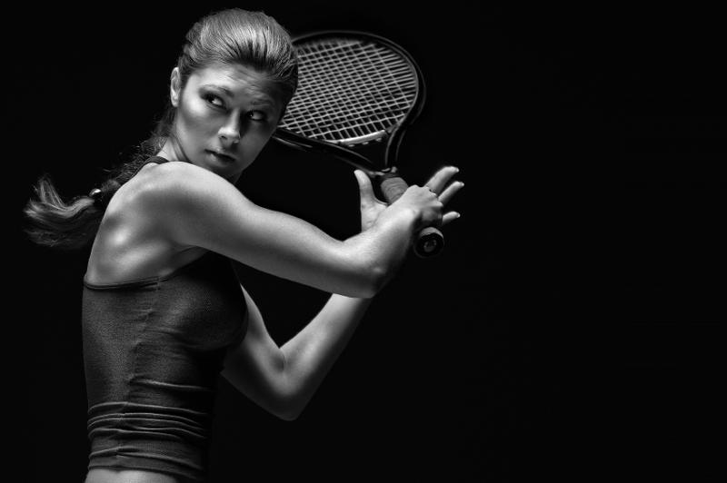 Strong Woman Tennis Player