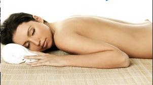 Relaxing or sleeping woman