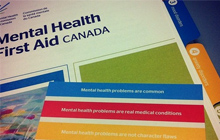 Photos of Mental Health First Aid Course Materials
