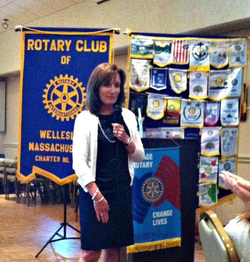 Rotary presentation by Margaret Hannah of MSPP