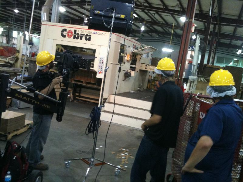 Filming at US Corrugated