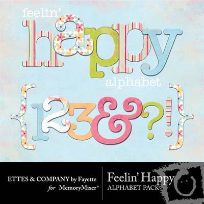 Feelin Happy Alphabet Pack for Digital Scrapbooking
