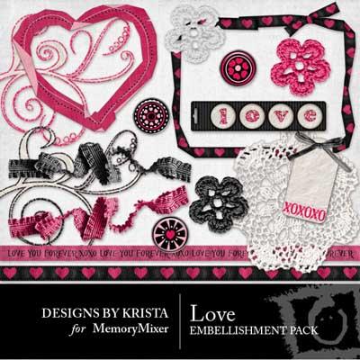 Love Embellishment Pack