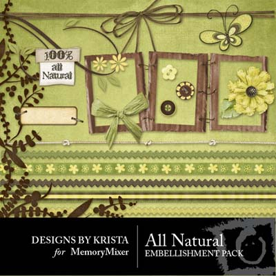 All Natural Embellishments for Digital Scrapbooking