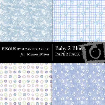 Baby 2 Blue Digital Backgrounds for MemoryMixer
