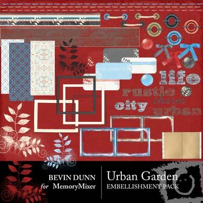 Urban Garden Diital Srapbooking Elements