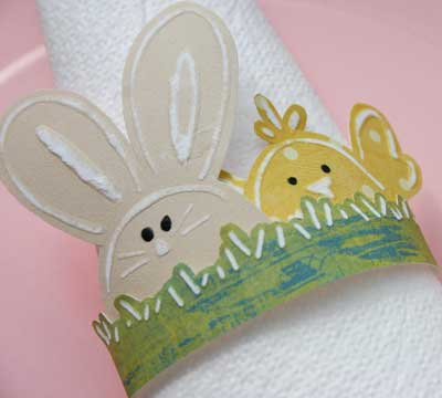 Embossed Easter Napkin Ring Craft