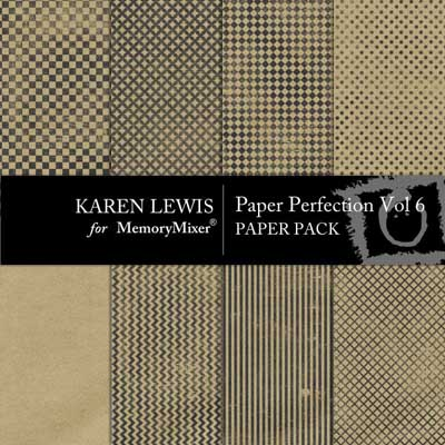 Paper Perfection Vol 6  Digital Scrapbooking Backgrounds