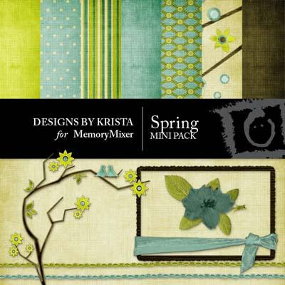 Spring Mini Pack for Digital Scrapbooking