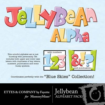 Jelly Bean Alphabet Pack for Digital Scrapbooking