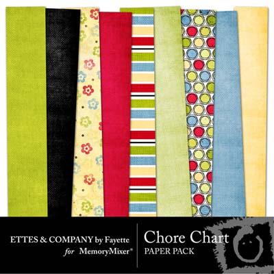 Chore Chart Digital Backgrounds for MemoryMixer