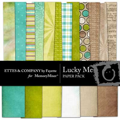 Lucky Me Backgrounds for Digital Scrapbooking with MemoryMixer