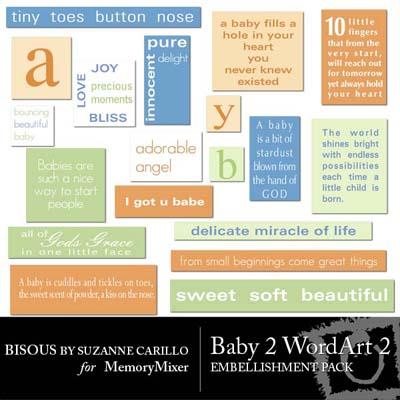 Baby 2 WordArt 2 for Digital Scrapbooking