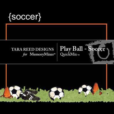 Soccer QuickMix for digital scrapbooking