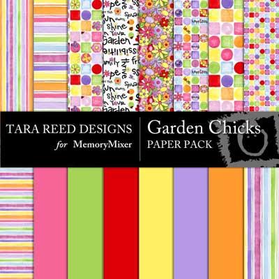 Garden Chick digital backgrounds for MemoryMixer