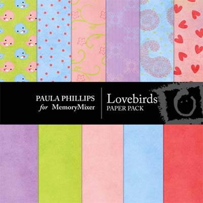Love Birds Digital Backgrounds for MemoryMixer