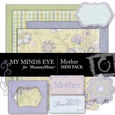 Mother Mini Pack for Digital Scrapbooking