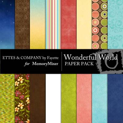 Wonderful World Backgrounds for MemoryMixer