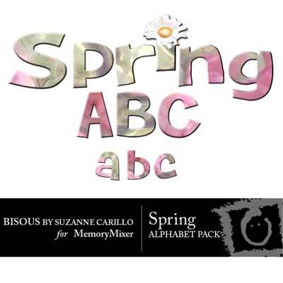 Spring Alphabet Pack for Digital Scrapbooking