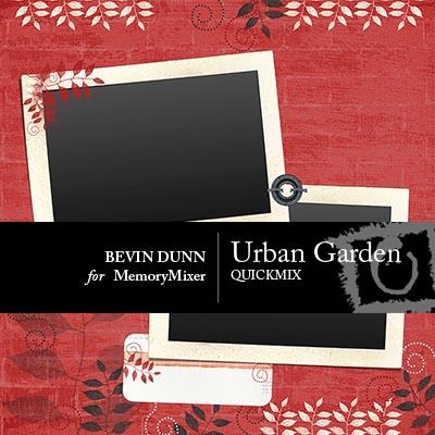 Urban Garden QuickMix for Digital Scrapbooking