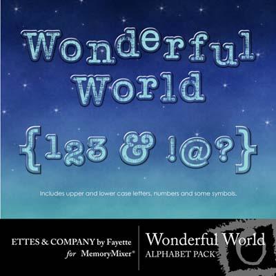 Wonderful World Alphabet Pack for Digital Scrapbooking