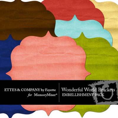 Wonderful World Bracket Pack For Digital Scrapbooking