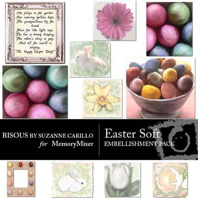 Easter Soft Embellishments For Digital Scrapbooking
