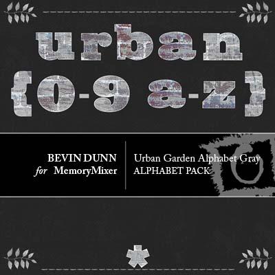 Urban Garden Alphabet Gray