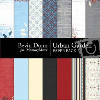 Urban Garden Paper Pack for Digital Scrapooking