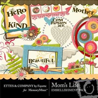 Mom's Life Embellishments for Digital Scrapbooking