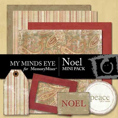 Noel Mini Pack from My Mind's Eye for MemoryMixer Digital Scrapbooking