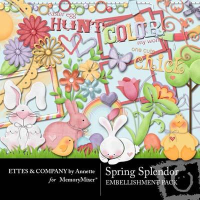 Spring Splendor Embellishment Pack for Digital Scrapbooking