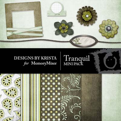 Tranquil Mini Pack for Digital Scrapbooking