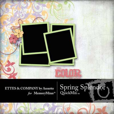 Spring Splendor QuickMix for MemoryMixer