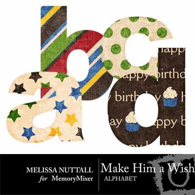 Birthday Alphabet for Digital Scrapbookikng