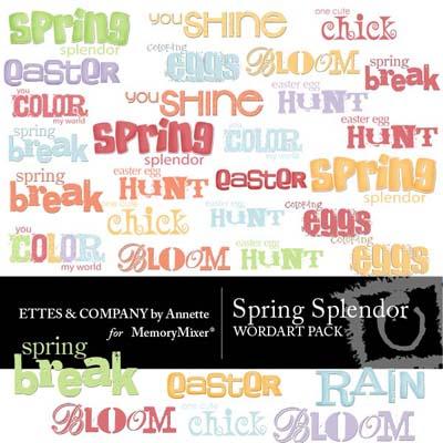 Spring Splendor Wordart for Digital Scrapbooking