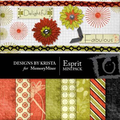 Esprit Mini Pack for Digital Scrapbooking