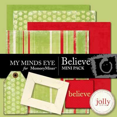 Believe Mini Pack for Digital Scrapbooking