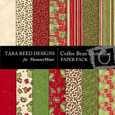 Coffee Bean Christmas Paper Pack
