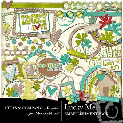 Lucky Me! element pack for digital scrapbooking with MemoryMixer